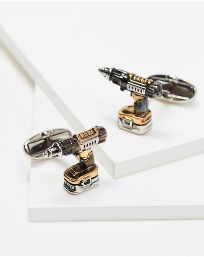 Paul Smith Drill Cufflinks Silver