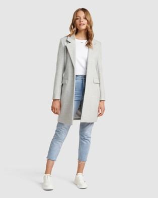 Forever New Emma Coatigan - Coats & Jackets (Grey Marle )