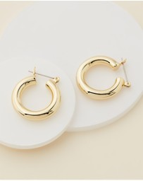 Luv Aj - The Baby Amalfi Gold Tube Hoop Earrings