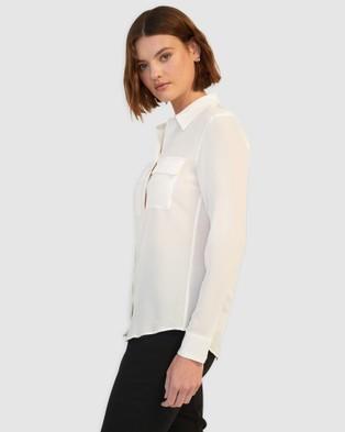 GINIA RTW Silk Poppy Shirt - Tops (Creme)