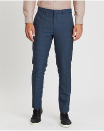 Burton Menswear - Highlight Slim Fit Check Trousers