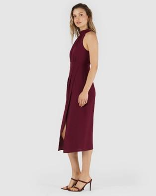 Amelius Aveda Midi Dress - Dresses (Red)