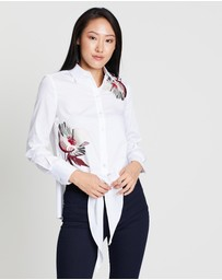 Karen Millen - Embroidered Tie Hem Shirt