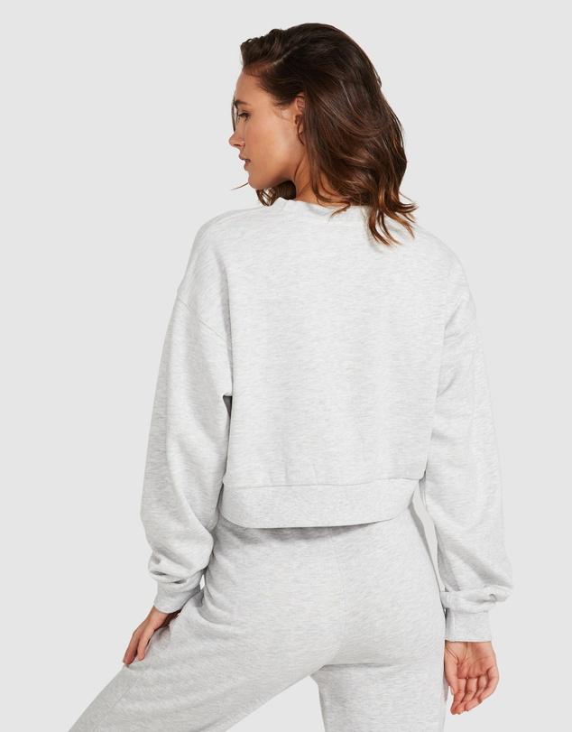 Women Cropped Fleece Jumper
