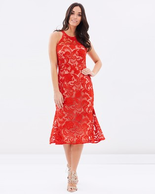Cooper St – Carnation Lace Dress – Dresses (Crimson Red)