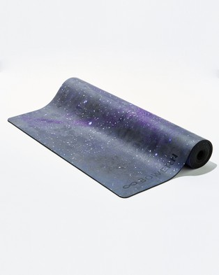 Bowern Star Dust Yoga Mat - Gym & Yoga (Black/Deep Purple)