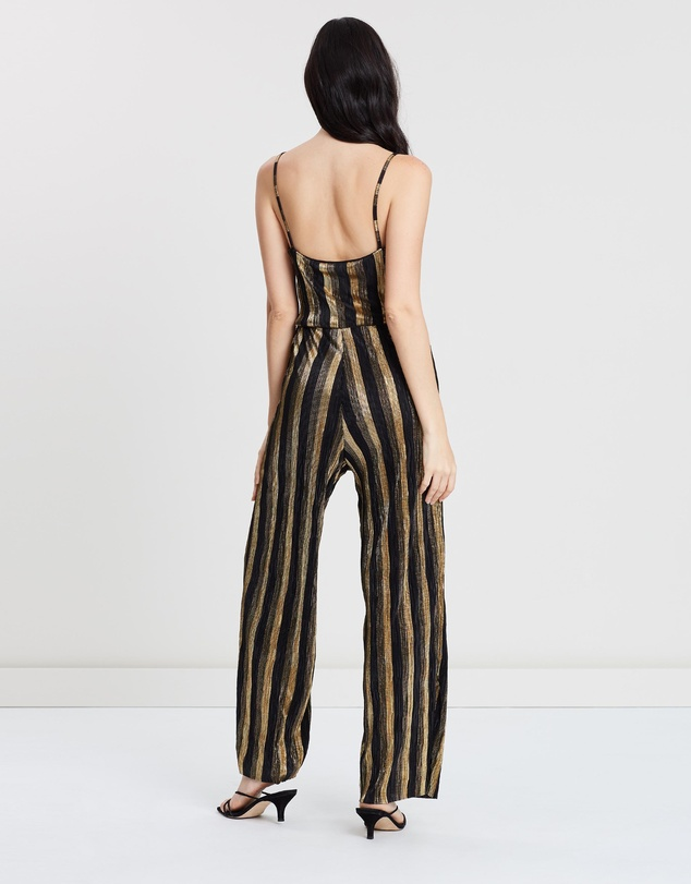 Miss Selfridge Petite - Stripe Plisse Jumpsuit