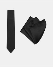 Buckle - Herringbone Tie & Pocket Square Set