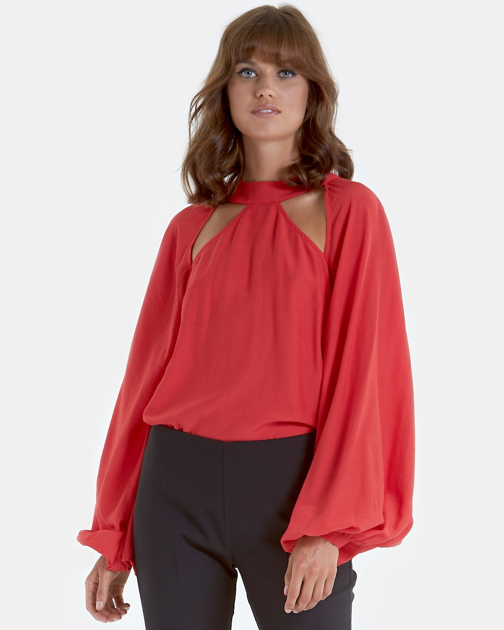 Amelius Audette Blouse Tops Red Audette Blouse