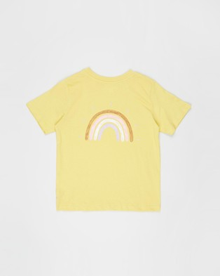Free by Cotton On - Girls Classic SS Tee   Teens - T-Shirts & Singlets (Sunshine & Rainbow Front and Back) Girls Classic SS Tee - Teens