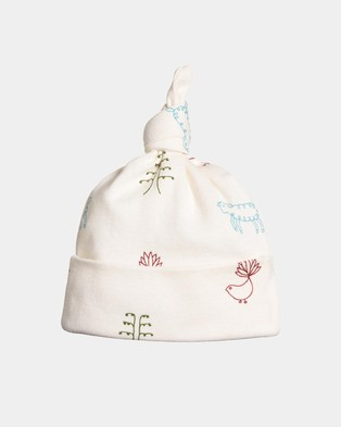 Nature Baby Knotted Beanie - Headwear (Nature Baby Print)
