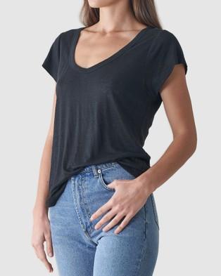 Amelius Newport Linen T Shirt - T-Shirts & Singlets (Black)