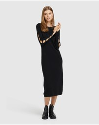 Oxford - Kate Cut Out Knitted Dress