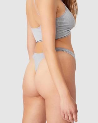 Cotton On Body Seamfree Rib G String - Thongs & G-Strings (Light Grey Marle)