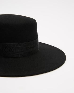 Ace Of Something - Gunsmoke Boater - Hats (Black) Gunsmoke Boater