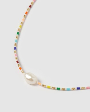 Arms Of Eve Marley Pearl & Glass Beaded Necklace - Jewellery (White)