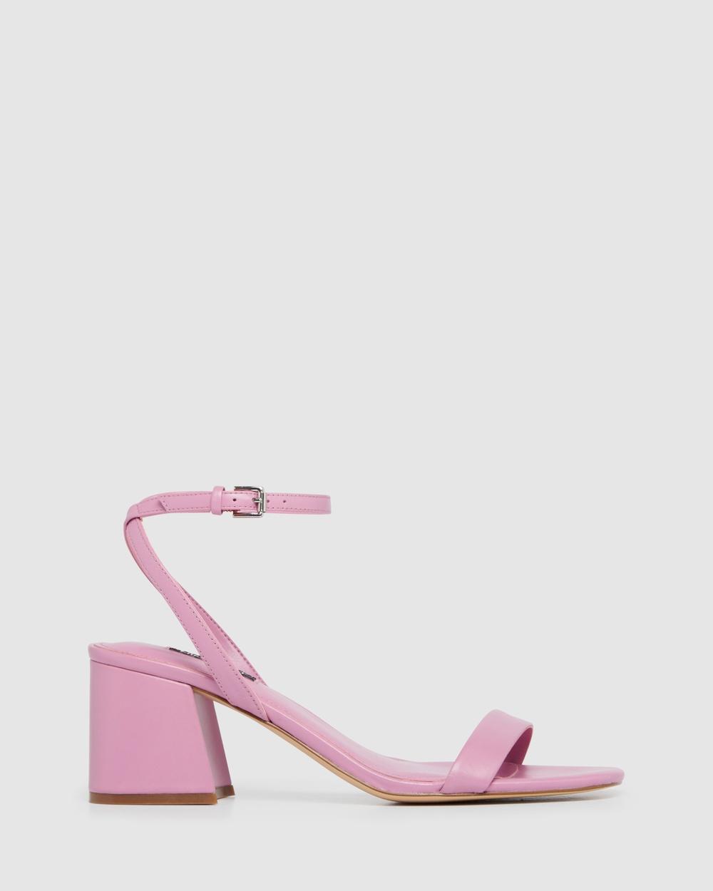 Nine West Giada Sandals DARK PINK Australia