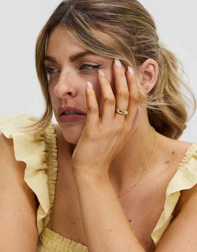 Women ICONIC EXCLUSIVE-Gold Plated Signet Ring