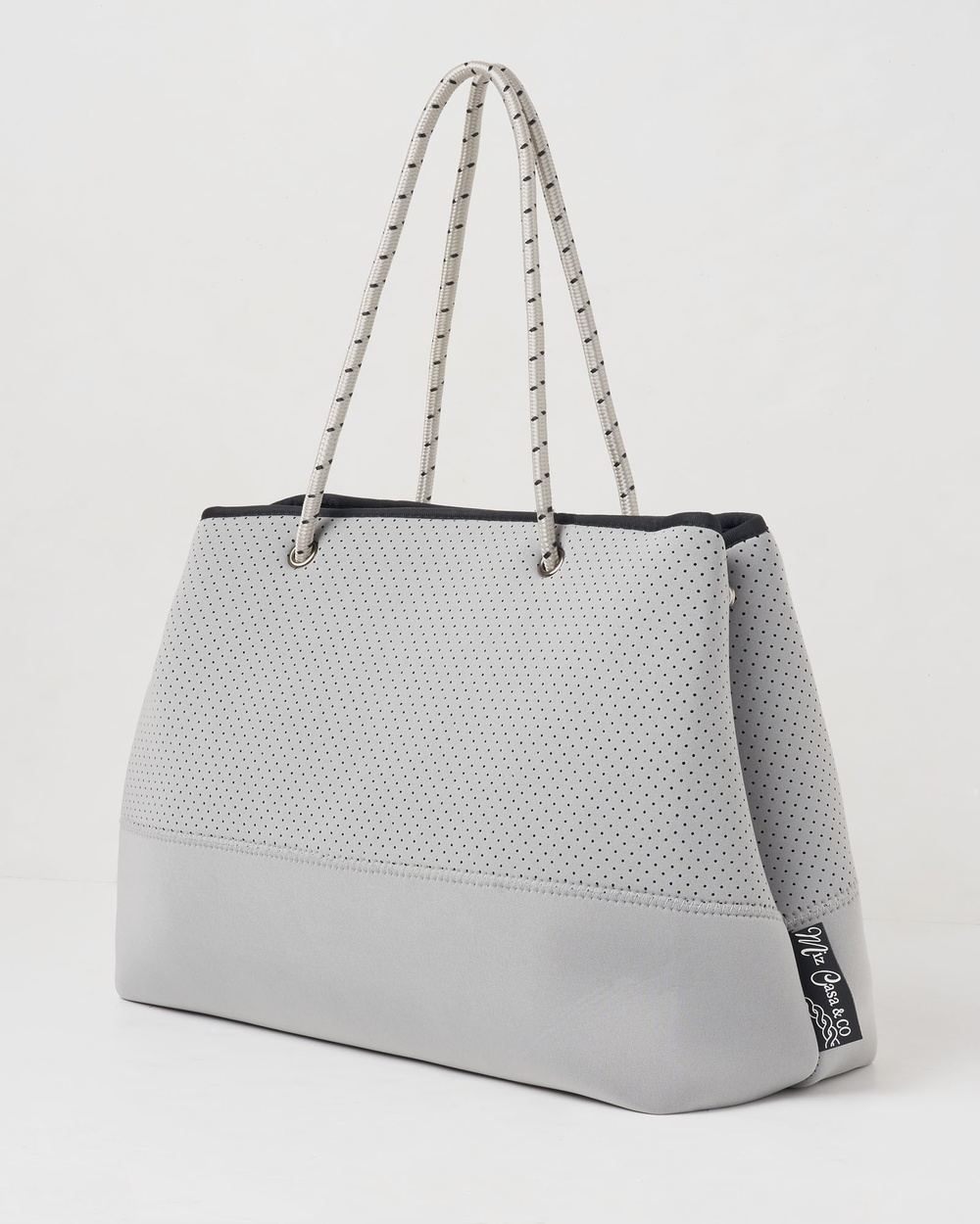 Miz Casa and Co Ivy Neoprene Tote Bag Bags Grey