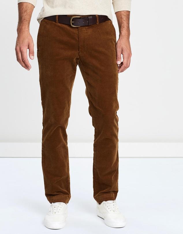 cheap price 50% off really cheap Stretch Corduroy Flat Pants