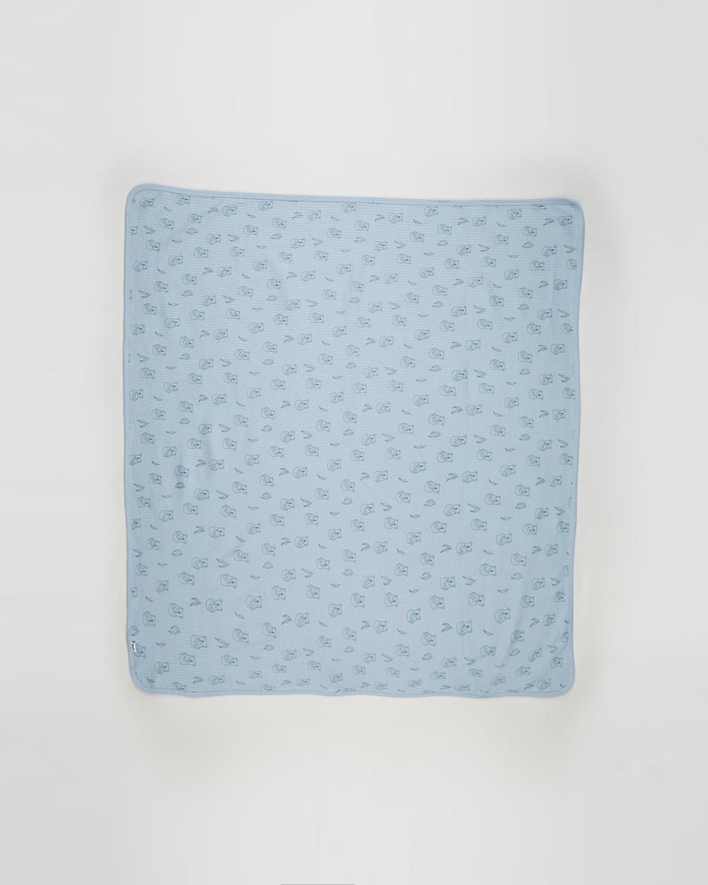 Cotton On Baby Organic Newborn Blanket Babies Blankets Rain Cloud/Cuddly Koala