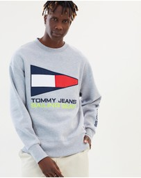 Tommy Jeans - 90s Sailing Logo Neon Crew