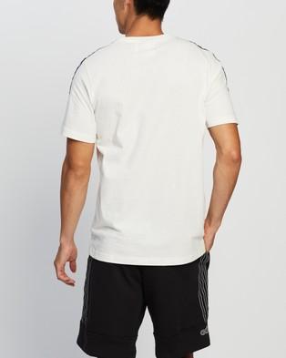 adidas Originals Sport 3 Stripes Tee - T-Shirts & Singlets (Chalk White)