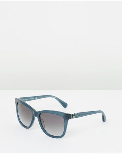 Diane Von Furstenberg Dvf610s Milky Blue
