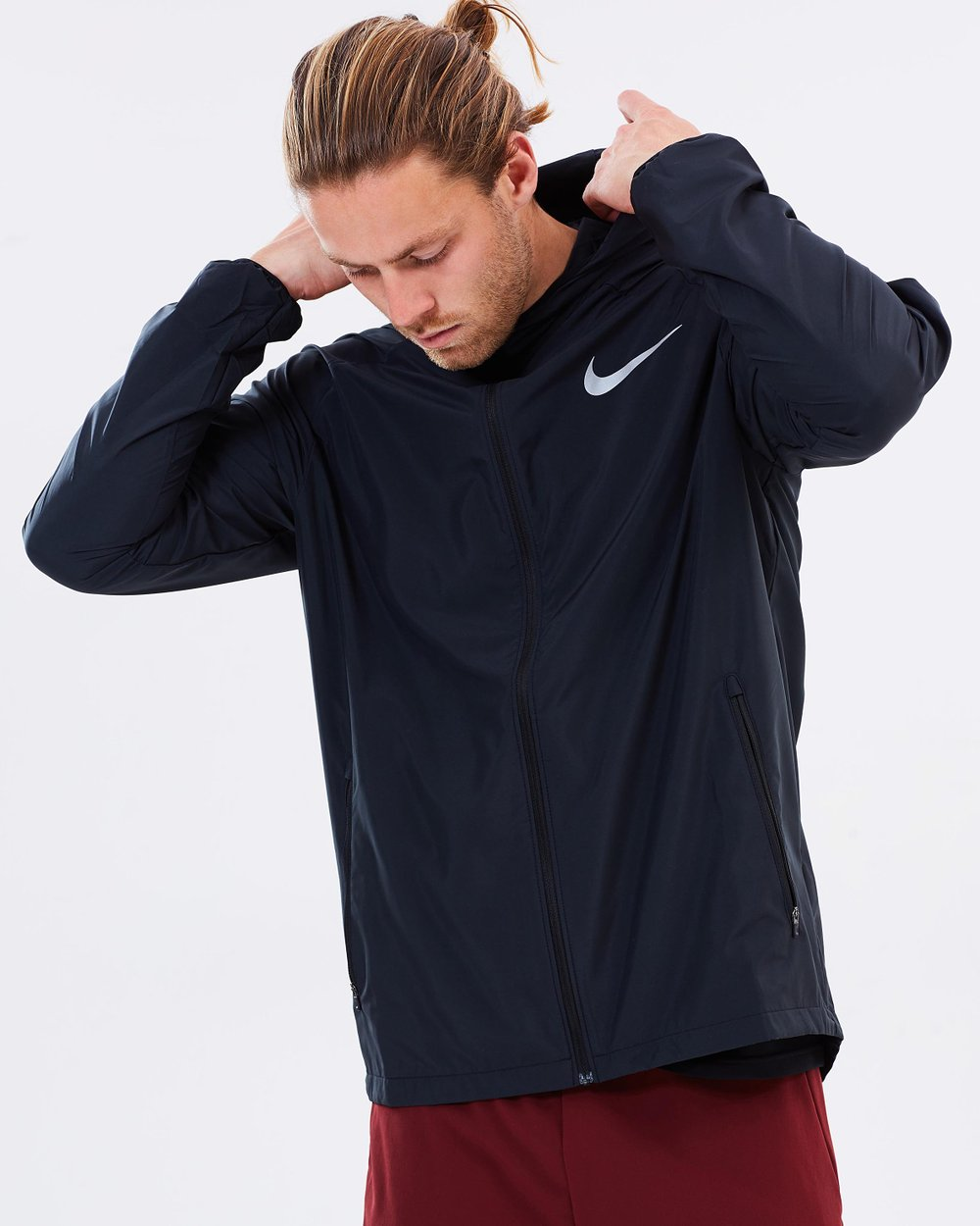 timeless design 12c02 5df8e Men s Nike Essential Hooded Running Jacket by Nike Online   THE ICONIC    Australia