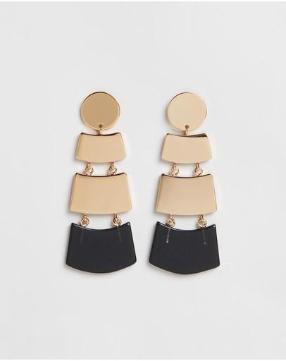 Peter Lang Nia Smoke Earring Gold / Black
