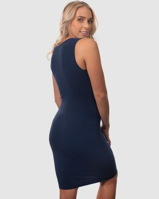 B Free Intimate Apparel Bamboo Everyday Dress - Dresses (Pacific Blue)