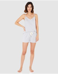 Boody Organic Bamboo Eco Wear - Goodnight Sleep Set - Cami and Shorts - Dove