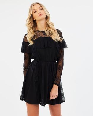 Atmos & Here – Masey Lace Frill Mini Dress Black