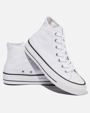 Rubi - Britt Retro High Tops   Teens - Sneakers (White) Britt Retro High Tops - Teens