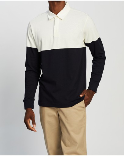 Norse Projects Ruben Colour-block Polo Dark Navy