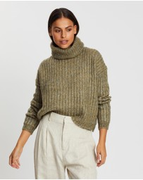 ONLY - Chunky LS Roll Neck Pullover Knit