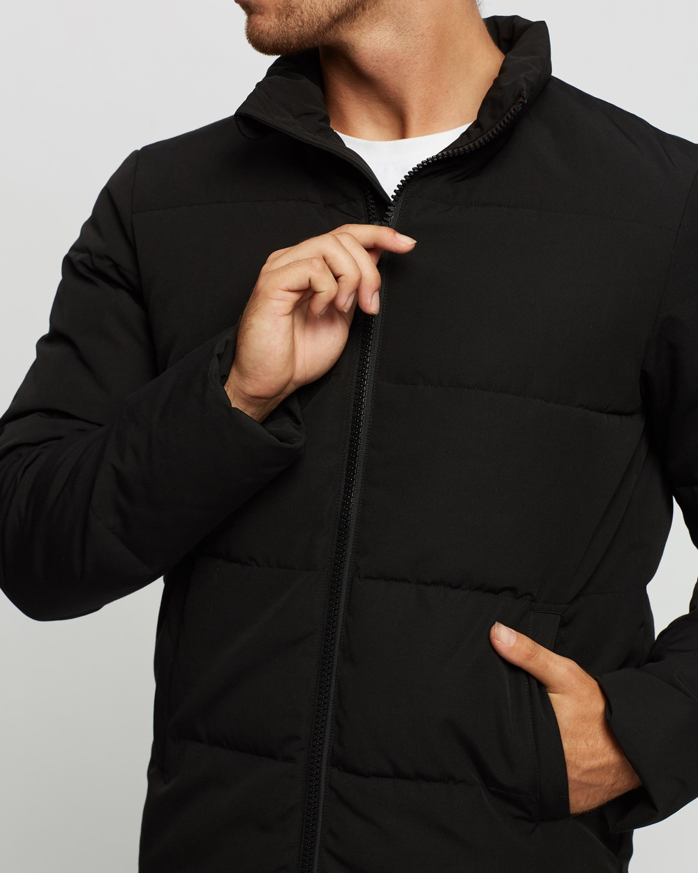 AERE Recycled Quilted Puffer Jacket Coats & Jackets Black