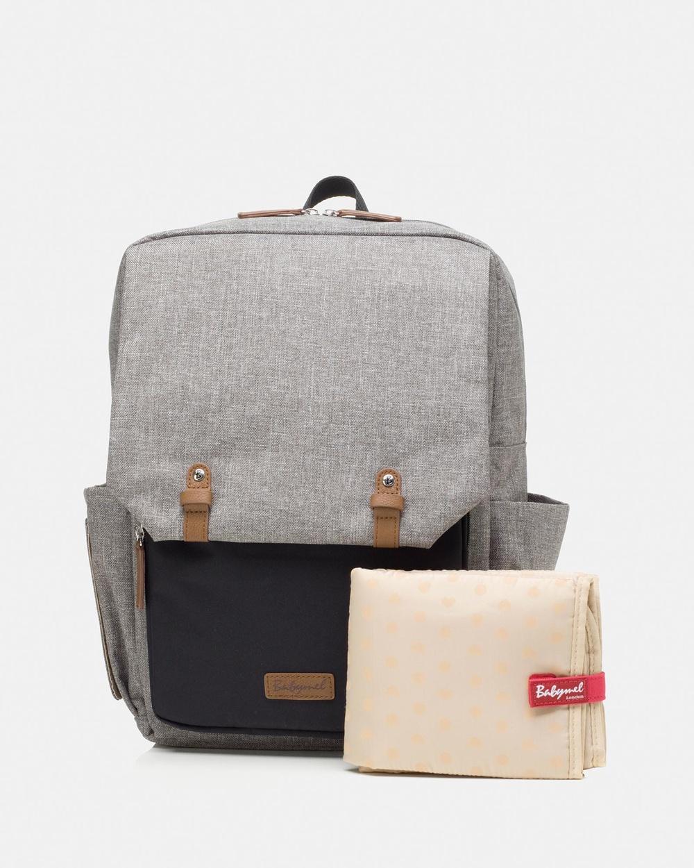 Babymel George Backpack Nappy Bag Backpacks Black & Grey