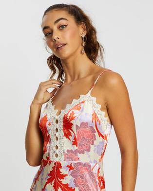 LENNI the label Tarot Mini Dress - Printed Dresses (Anemone Red)