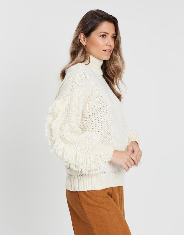 Rue Stiic - Dallas Fringed Knit Jumper