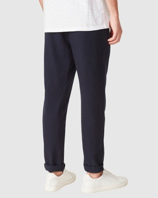 French Connection Linen Blend Pants - Pants (MARINE BLUE)