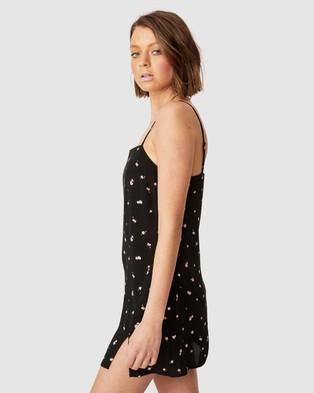 Cotton On Woven Kye Strappy Mini Dress - Printed Dresses (Valerie Rose Black)