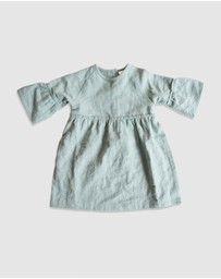 Goldie & Ace - ICONIC EXCLUSIVE by LINDY RAMA-ELLIS - Luella Linen Long Sleeve Dress - Kids