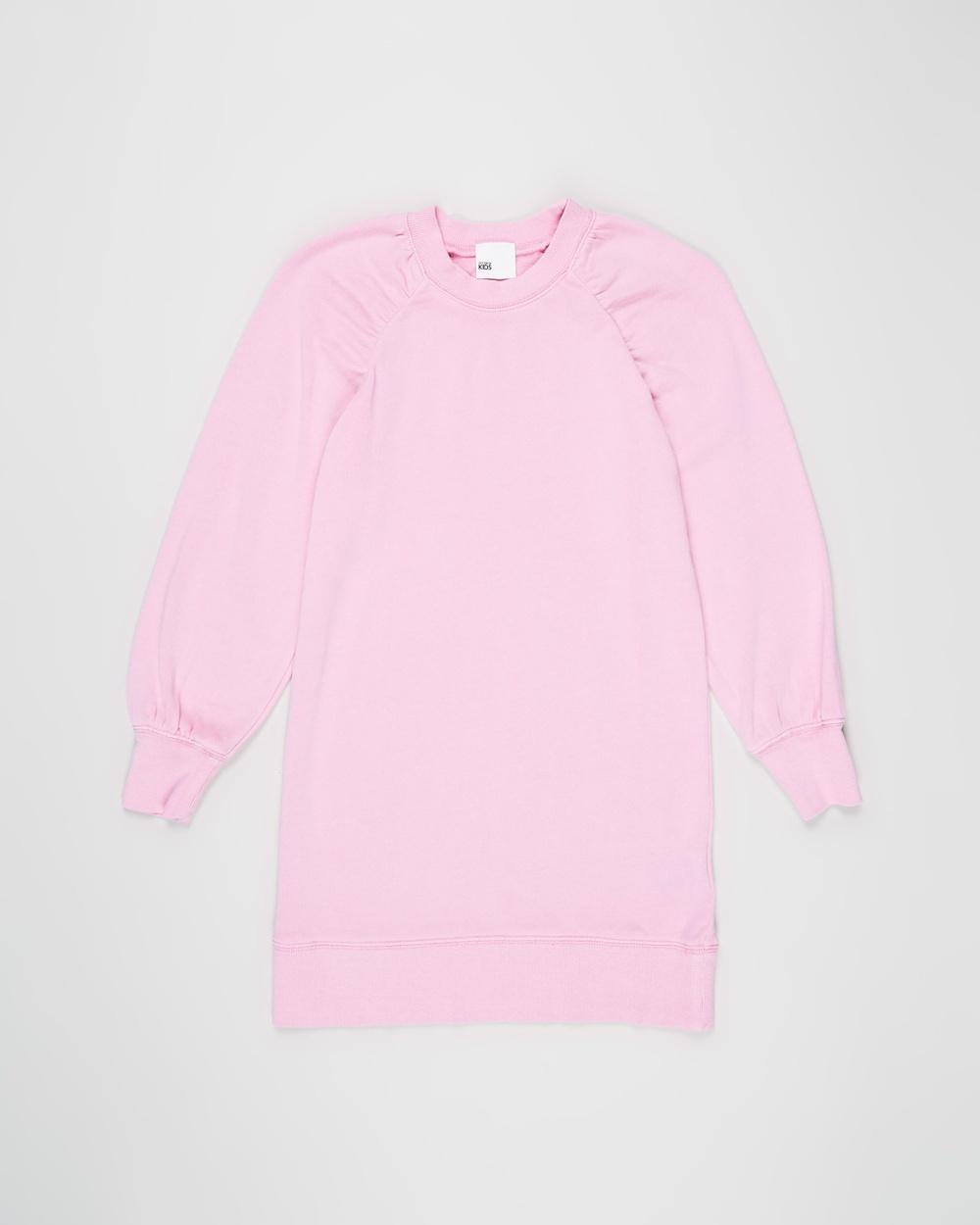 Cotton On Kids Molly Long Sleeve Dress Teens Dresses Pink Gerbera Kids-Teens Australia