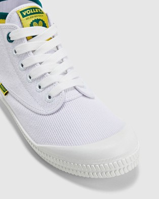 Volley Heritage High - High Top Sneakers (White/Green/Gold)