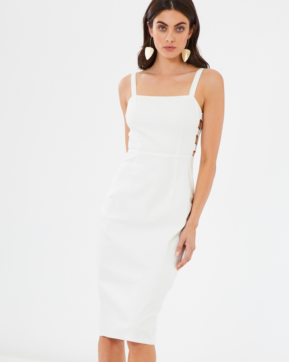 Atmos & Here White With Tortoiseshell ICONIC EXCLUSIVE – Francoise Pencil Dress