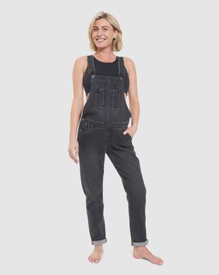 Ripe Maternity Denim Overalls - Jumpsuits & Playsuits (Black)