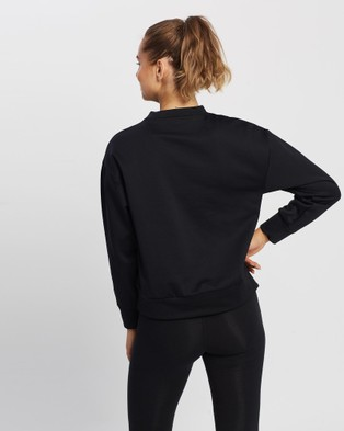 New Balance Relentless Tech Fleece Crew - Crew Necks (Black)