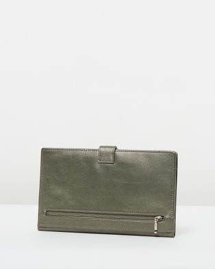 Loop Leather Co Leather Travel Clutch - Travel and Luggage (Pewter)