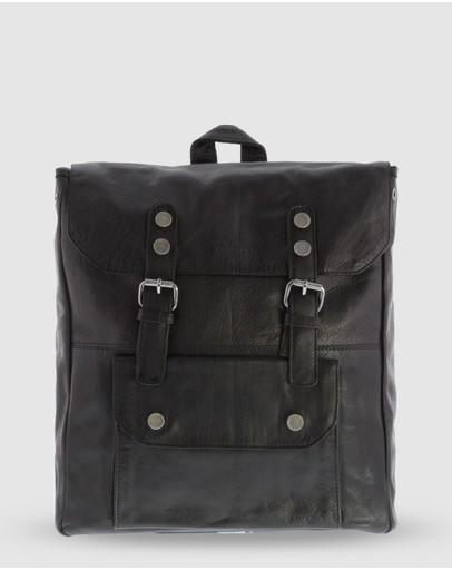 Cobb & Co Wentworth Jr. Soft Leather Backpack Black